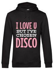 Hoodie barbat cu gluga I've chosen disco Negru