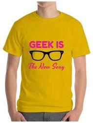 Tricou ADLER barbat Geek is the new sexy Galben