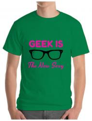 Tricou ADLER barbat Geek is the new sexy Verde mediu