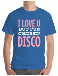 Tricou ADLER barbat I've chosen disco Albastru azuriu