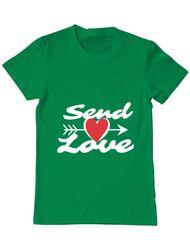 Tricou ADLER barbat Send love Verde mediu