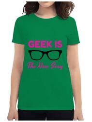 Tricou ADLER dama Geek is the new sexy Verde mediu