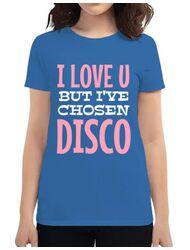 Tricou ADLER dama I've chosen disco Albastru azuriu