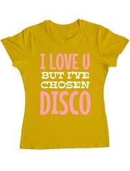 Tricou ADLER dama I've chosen disco Galben
