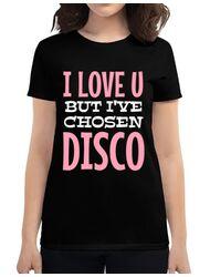 Tricou ADLER dama I've chosen disco Negru