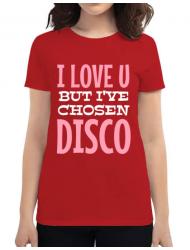 Tricou ADLER dama I've chosen disco Rosu