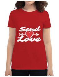 Tricou ADLER dama Send love Rosu