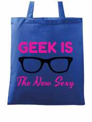 Sacosa din panza Geek is the new sexy Albastru regal