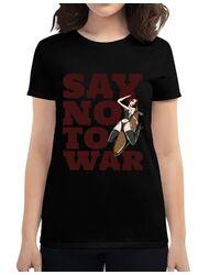 Tricou ADLER dama Say no to war Negru