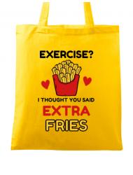 Sacosa din panza Exercise extra fries Galben