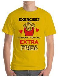 Tricou ADLER barbat Exercise extra fries Galben