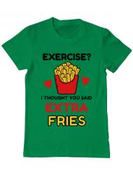 Tricou ADLER barbat Exercise extra fries Verde mediu