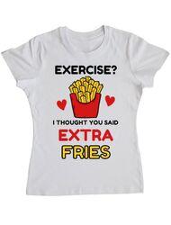 Tricou ADLER dama Exercise extra fries Alb