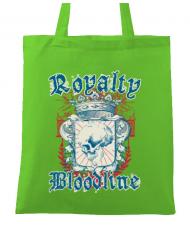 Sacosa din panza Royalty bloodline Verde mar