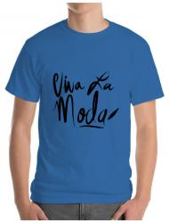 Tricou ADLER barbat Viva la moda Albastru azuriu