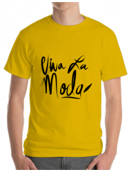 Tricou ADLER barbat Viva la moda Galben