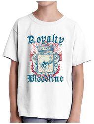 Tricou ADLER copil Royalty bloodline Alb