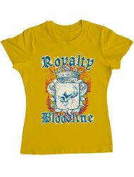 Tricou ADLER dama Royalty bloodline Galben