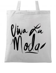 Sacosa din panza Viva la moda Alb