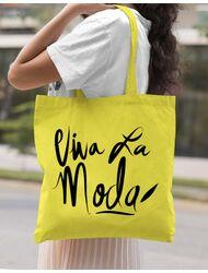 Sacosa din panza Viva la moda Galben