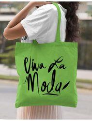 Sacosa din panza Viva la moda Verde mar