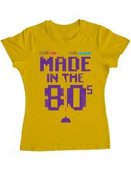 Tricou ADLER dama Made in the 80s Galben