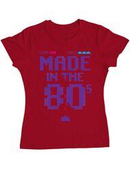 Tricou ADLER dama Made in the 80s Rosu