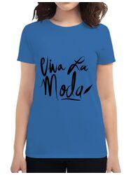 Tricou ADLER dama Viva la moda Albastru azuriu