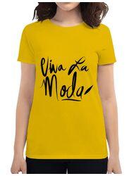 Tricou ADLER dama Viva la moda Galben