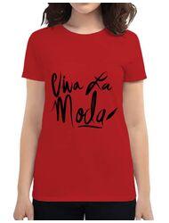 Tricou ADLER dama Viva la moda Rosu