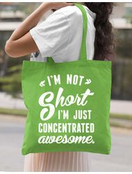 Sacosa din panza Concentrated awesome Verde mar