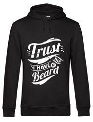 Hoodie barbat cu gluga Trust me, I have a beard Negru