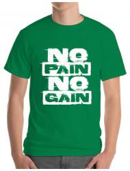 Tricou ADLER barbat No pain, no gain Verde mediu
