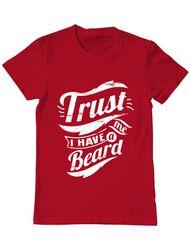 Tricou ADLER barbat Trust me, I have a beard Rosu