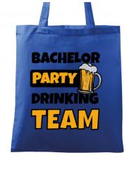 Sacosa din panza Bachelor Party Albastru regal