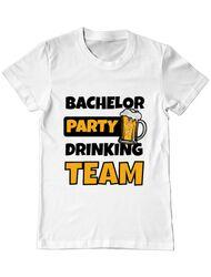 Tricou Petrecerea burlacilor ADLER Bachelor Party Alb