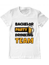 Tricou ADLER barbat Bachelor Party Alb