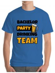 Tricou ADLER barbat Bachelor Party Albastru azuriu