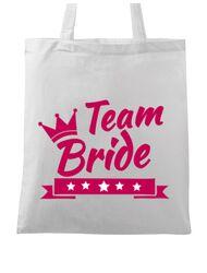 Sacosa personalizata Petrecerea burlacitelor Team Bride Alb
