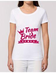 Tricou Petrecerea burlacitelor STANLEY STELLA Team Bride Alb