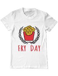 Tricou ADLER barbat Fry Day Alb