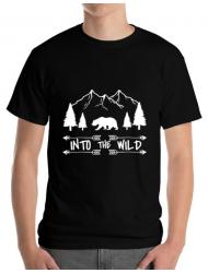 Tricou ADLER barbat Into the wild Negru