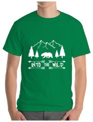 Tricou ADLER barbat Into the wild Verde mediu