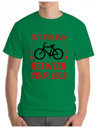 Tricou ADLER barbat Put the fun Between your legs Verde mediu