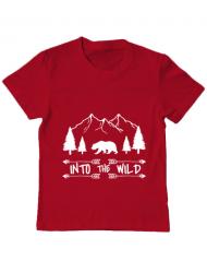 Tricou ADLER copil Into the wild Rosu