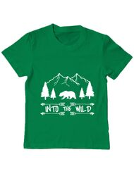 Tricou ADLER copil Into the wild Verde mediu
