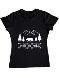 Tricou ADLER dama Into the wild Negru