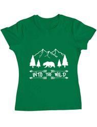 Tricou ADLER dama Into the wild Verde mediu