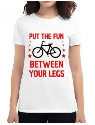 Tricou ADLER dama Put the fun Between your legs Alb