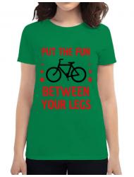 Tricou ADLER dama Put the fun Between your legs Verde mediu